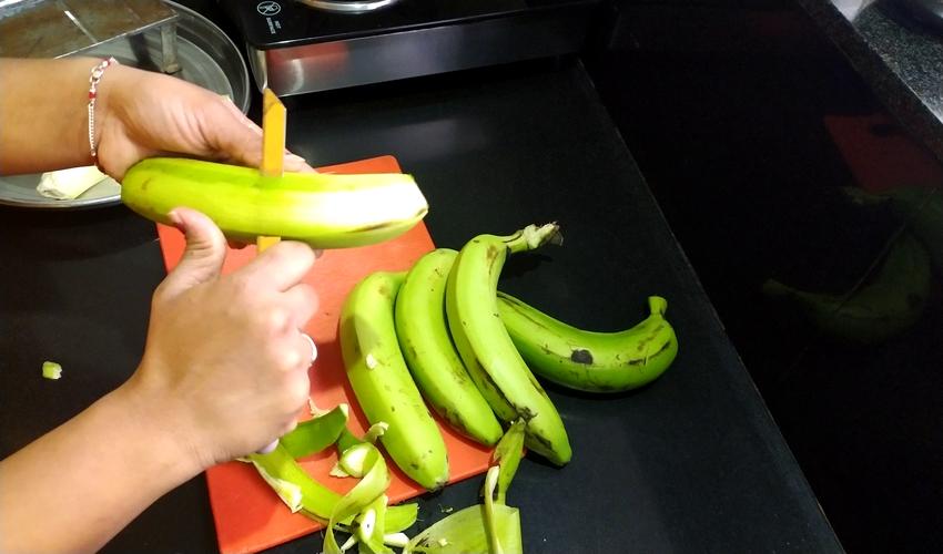 Homemade Banana Chips | How To Make Banana Chips/Wafers